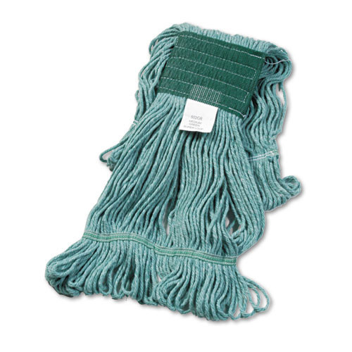 Boardwalk BWK502GNCT Super Loop looped end wet mop heads medium green 5 inch headband case of 12 replaces UNS502WH