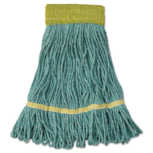 Boardwalk BWK501GN Super Loop looped end wet mop heads small green 5 inch headband case of 12