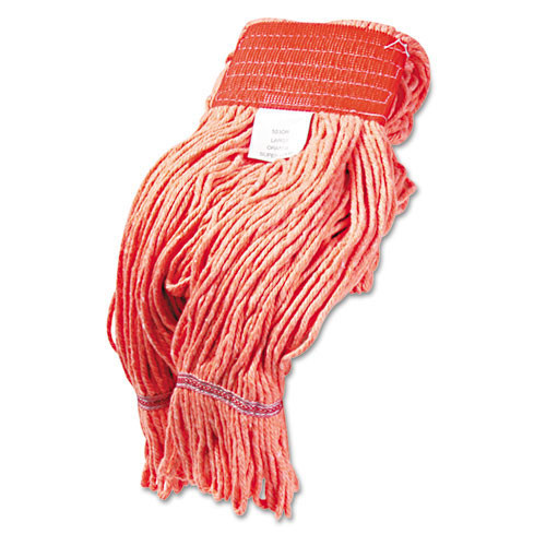 Boardwalk BWK503OR Super Loop looped end wet mop heads large orange 5 inch headband case of 12
