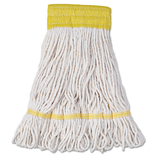 Boardwalk BWK501WH Super Loop looped end wet mop heads small white 5 inch headband case of 12