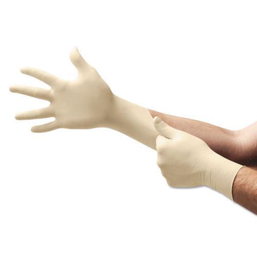 Disposable latex gloves powder free textured grip latex gloves powder free textured grip disposable medium nonsterile 5 mil dispenser pack of 100 gloves Ansell ans69318m