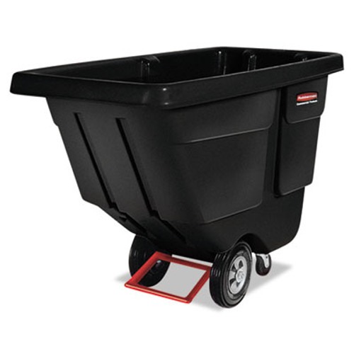 Rubbermaid 1304bla tilt truck 0.5 cubic yard 450 lb. black