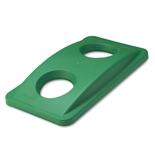 Rubbermaid 269288gre Slim Jim trash can top recycle for Slim Jim 3540 3541 3554 green replaces rcp269288gre rcp269288gn
