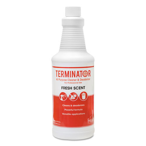 Fresh frs1232tnct terminator deodorizer in trigger spray bottle 32oz size case of 12