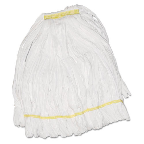 Boardwalk BWK8003 EnviroClean looped end wet mop heads white large 1 inch headband case of 12