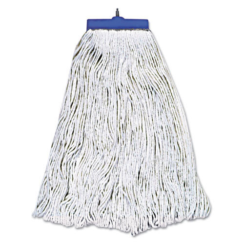 Boardwalk BWK824R lieflat rayon mop heads 24oz bolt style looped with tailband case of 12