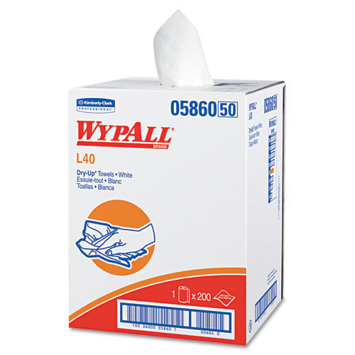 Wypall kcc05860 wipes health fitness dryup towels 19.5x42 white 200 rl one roll per case case of 200 towels