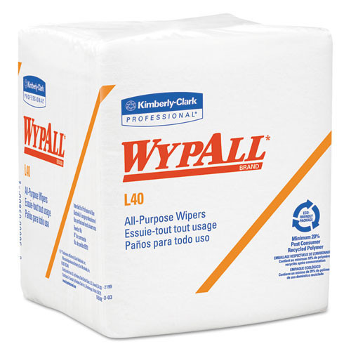 Wypall kcc05701 L40 all purpose white case of 1008 wipes
