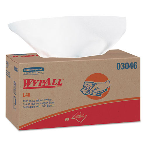 Wypall kcc03046 L40 all purpose 10x11.2 white case of 810 wipes