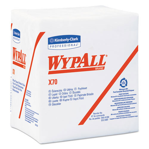 Wypall kcc41200 workhorse rags x70 12.5x14.4 white case of 912 wipes