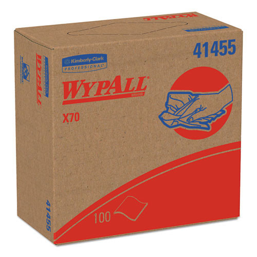 Wypall kcc41455 workhorse rags x70 9.1x16.8 white case of 1000 wipes