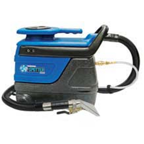 Sandia Super Spot Xtract 503001 carpet extractor 3 gallon with exterior solution hose stainless steel hand tool 2 stage vac motor 55psi pump