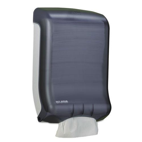 San Jamar SJMT1700TBK paper hand towel dispenser cfold or multifold classic ultrafold black plastic
