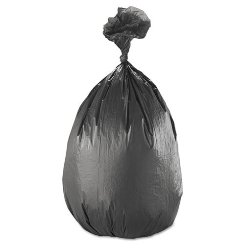Ibs ibss386017k 60 gallon trash bags case of 200 black 38x60 high density 17 mic extra heavy duty strength coreless rolls