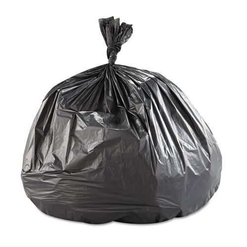 Ibs ibss434822k 56 gallon trash bags case of 150 black 43x48 high density 22 mic extra heavy duty strength coreless rolls