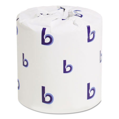 Boardwalk BWK6170 standard roll bathroom tissue 1 ply 1000 sheets 4.5x3.75 case of 96 rolls