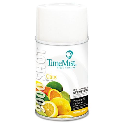 Timemist 9000 air freshener refills citrus 7.5oz case of 4 replaces TMS336415TMCA TMS1042649
