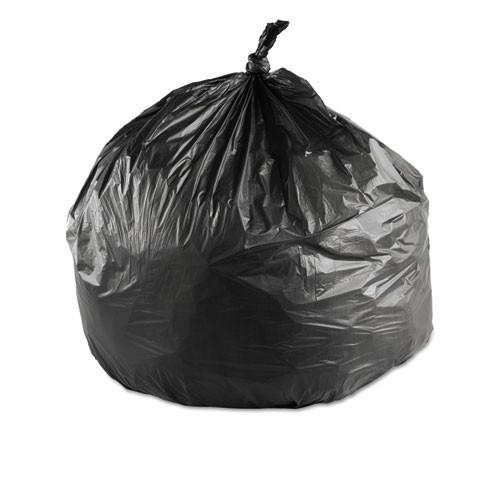 Ibs ibsec243306k 15 gallon trash bags case of 1000 black 24x33 high density 6 mic regular strength coreless rolls