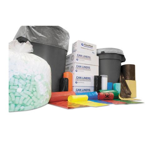 Ibs ibss386012k 60 gallon trash bags case of 200 black 38x60 high density 12 mic heavy duty strength coreless rolls