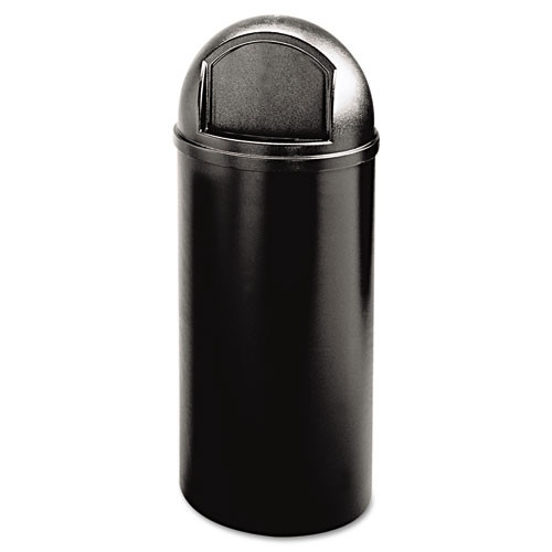 Rubbermaid 816088bla trash can Marshall 15 gallon container black replaces rcp816088bla rcp816088bk