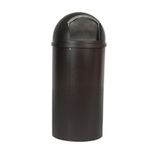 Rubbermaid 816088bro trash can Marshall 15 gallon container brown