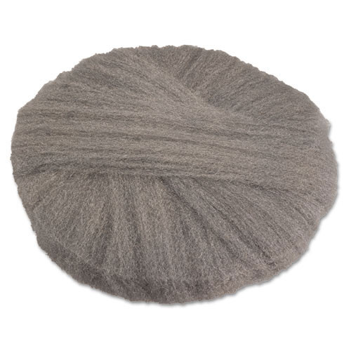 Steel wool floor scrubber pads 17 inch radial grade 2 coarse for stripping waxed floors or scrubbing rough floors case of 12 pads replaces gmt120172 gma120172