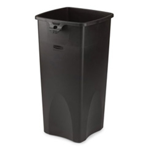 Rubbermaid 356988bla trash can Untouchable 23 gallon container square black replaces rcp356988bla rcp356988bk