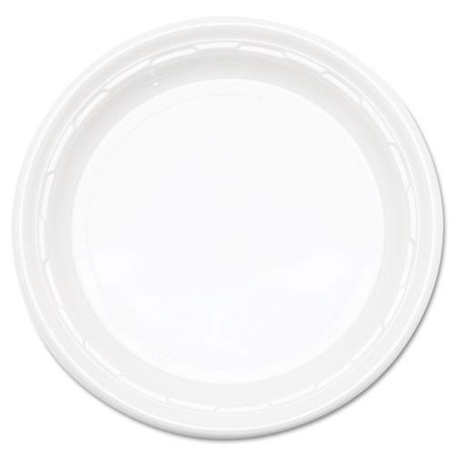 Impact plastic dinnerware 10.25 inch plate 4 125s case of 500 dart dcc10pwf