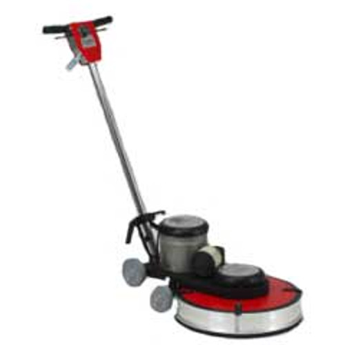 Hawk Floor Buffer Burnisher Machine High Speed 16 inch HP1517HSBDC 1.5 hp 1500 rpm with dust control includes pad holder F150017DC