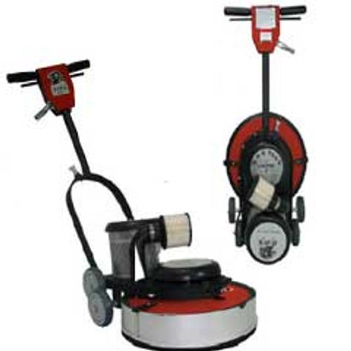 Hawk Floor Buffer Burnisher Machine High Speed 16 inch HCF15171500DC 1.5 hp 1500 rpm with dust control includes pad holder F150017CF