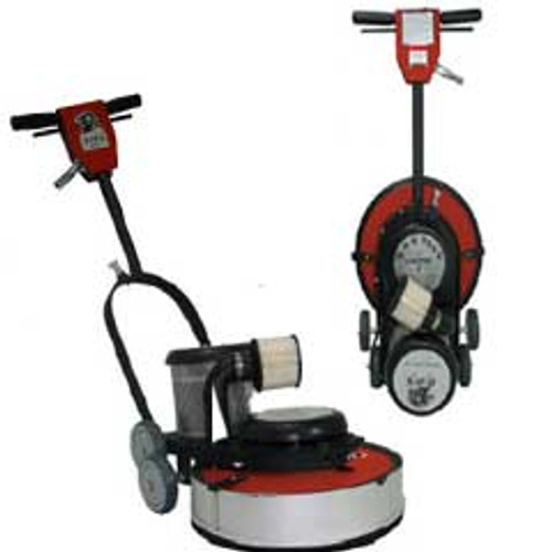 Hawk Floor Buffer Burnisher Machine High Speed 19 inch HCF15201800DC 1.5 hp 1800 rpm with dust control includes pad holder F180020CFDC