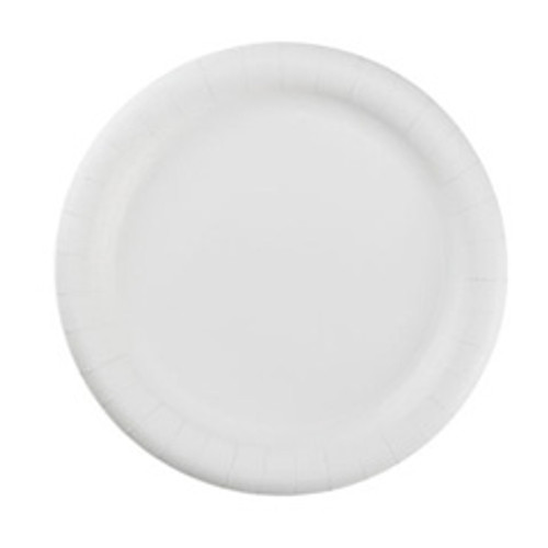 Uncoated paper plates 9 inch white green label ajm case of 1200 ajmpp9grawh