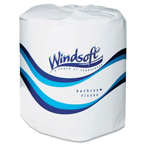 Windsoft WIN2400 standard roll bathroom tissue 2 ply 400 sheets 4x3.75 case of 24 rolls