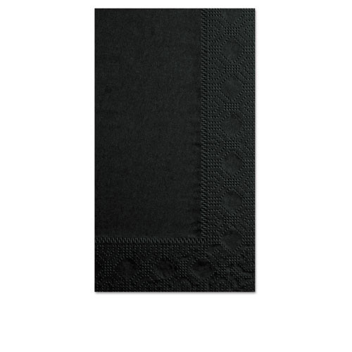 Dinner napkins black 15x17 2ply case of 1000 replaces BWK44065 Hfm180513