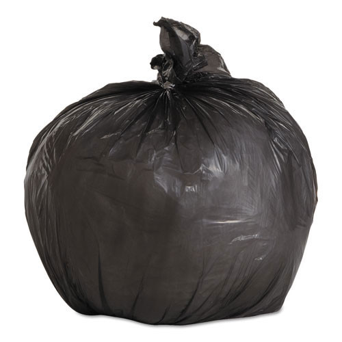 Boardwalk BWK1717L 4 gallon trash bags case of 1000 black 17x17 linear low .35 mil regular strength coreless rolls