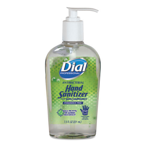 Dial instant hand sanitizer with moisturizers 7.5oz pump bottle case of 12 Dia01585