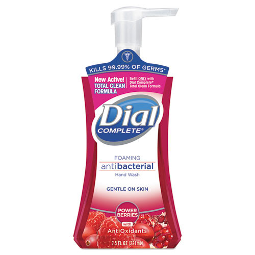 Dial DIA03016CT Complete antibacterial foaming hand wash with lotion Cranberry Fragrance 7.5oz pump bottle case of 8