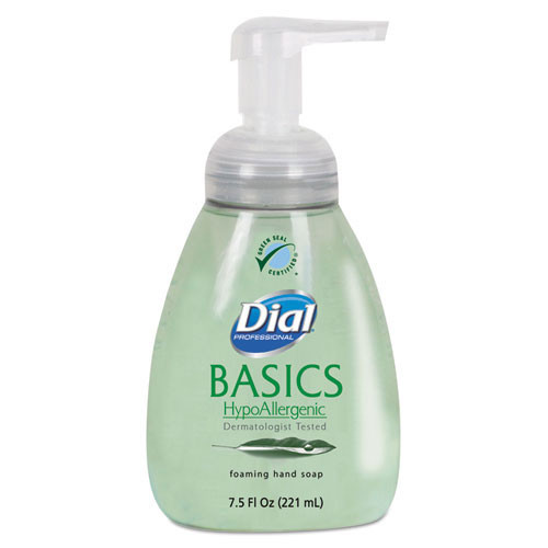 Dial Basics hypoallergenic foaming lotion soap 7.5oz pump bottle case of 8 Dia06042CT