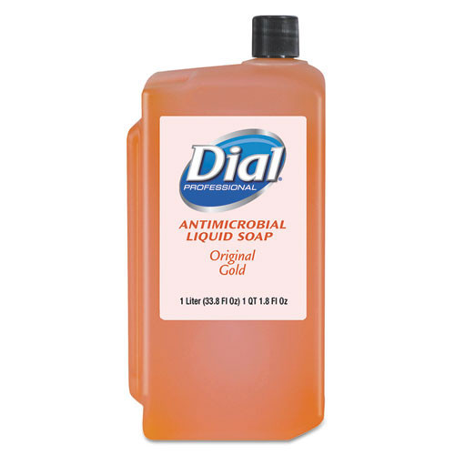 Dial DIA84019 1000ml liquid handsoap refills Liquid Gold antimicrobial soap case of 8 for dispenser DIA03922