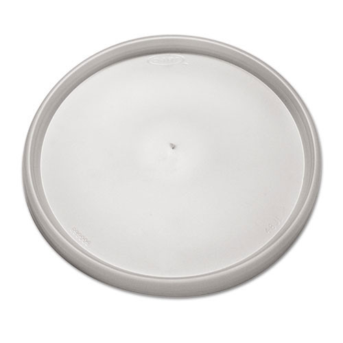Plastic lid for foam containers translucent vented case of 500 dcc48jl