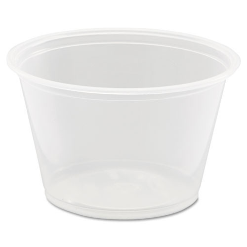 Conex Complements portion cups clear polypropylene 4oz size case of 2500 Dart Dcc400pc