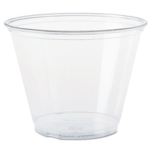 Conex clear cold cups 9oz Squat cup case of 1000 Dart DccTP9R