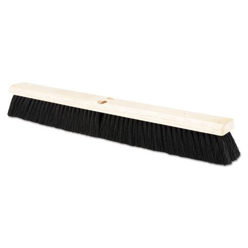 Boardwalk BWK20224 push broom 24 inch hardwood block tampico bristles replaces bru20224