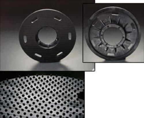 Mercury 2109 floor buffer flex pad holder plastic hook face for 21 inch high speed buffers high speed buffers 19 inch block