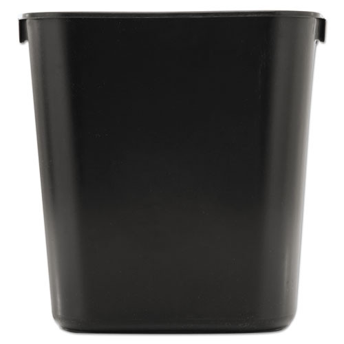 Rubbermaid 2955bla trash can wastebasket 3.5 gallon plastic rectangle black replaces rcp2955bla rcp295500bk