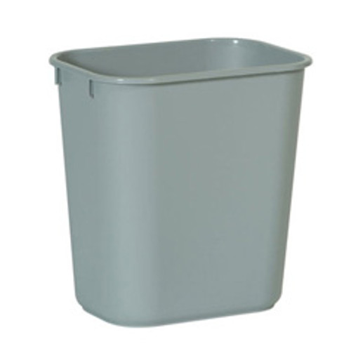 Rubbermaid 2955gra trash can wastebasket 3.5 gallon plastic rectangle gray