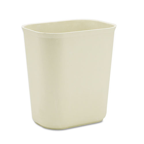 Rubbermaid 2541bei trash can 3.5 gallon wastebasket fire retardant plastic beige replaces rcp2541bei rcp254100bg