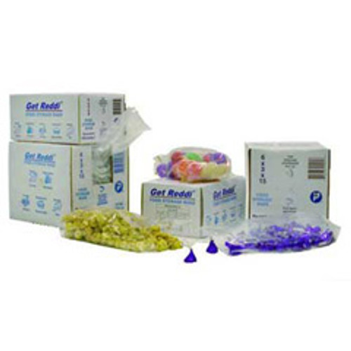 Food and utility poly bags clear lldpe film .68mil gauge 4x2x12 inch size 1 quart capacity case of 1000 bags ibspb040212