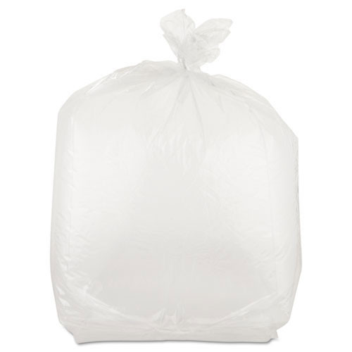 Food and utility poly bags clear lldpe film 1.00mil gauge 10x8x24 inch size 22 quart capacity case of 500 bags ibspb100824