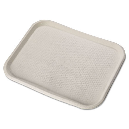 Foodservice tray chinet recycled serving tray 14w x 18d inch dimensions white colored case of 100 trays huhtamaki huh20804ct